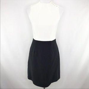 H&M Two Toned Black White Asian Sheath Dress 6